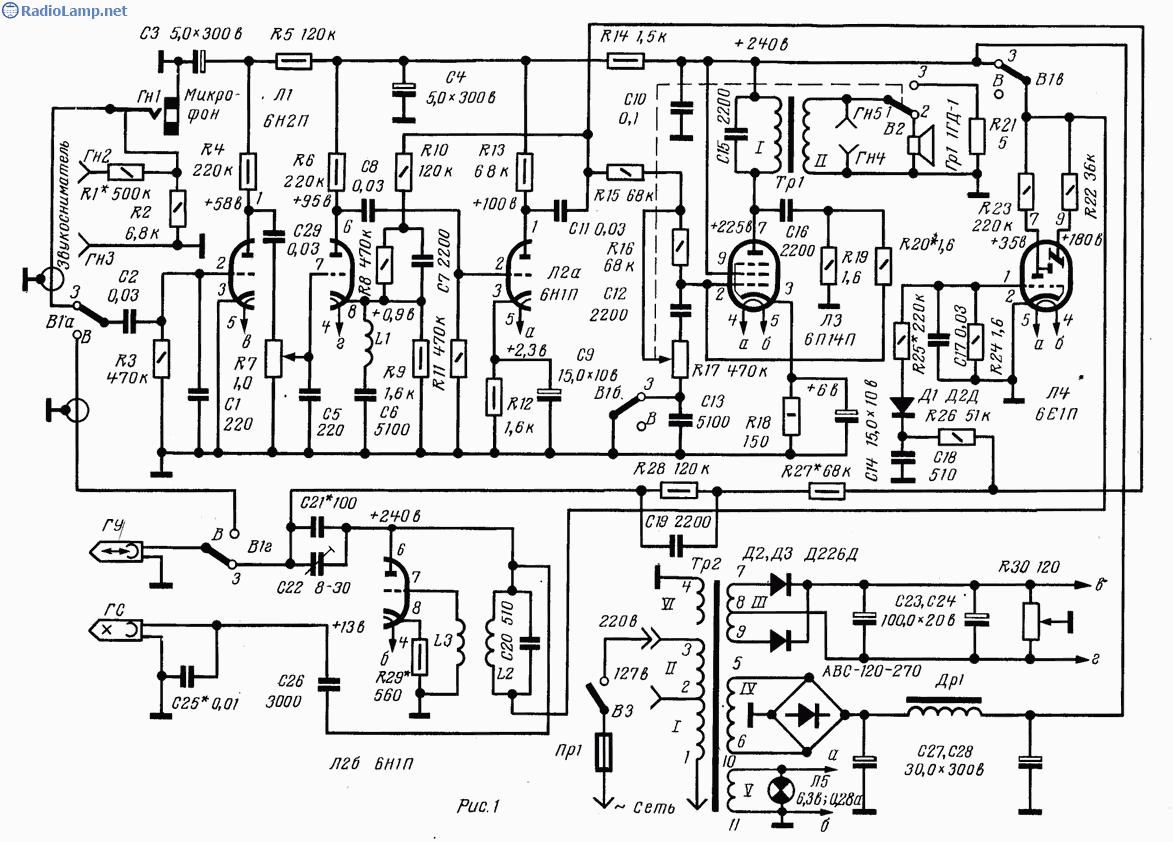 схема лампового приемника на 80 метров