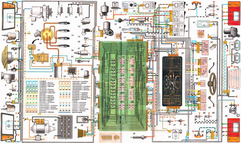 схема подключение магнитофона на автомобиль ваз2111